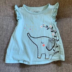 First Impressions Elephant Ruffle Sleeve T-Shirt